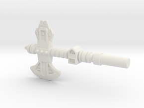 Broadside's Axe, 5mm in White Strong & Flexible: Medium