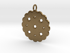 Cute Cookie Pendant Charm in Natural Bronze