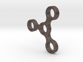 Figdet Spinner ARM in Polished Bronzed Silver Steel