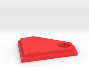 Diamond Keychain Decoration in Red Processed Versatile Plastic