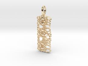 Kranz Leaf Anatomy Pendant in 14k Gold Plated Brass