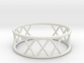 XXX Ring Size-11 in White Natural Versatile Plastic