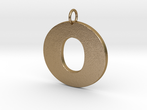 O Pendant in Polished Gold Steel