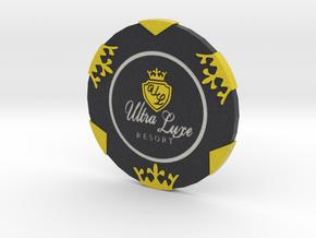 Ultra Luxe Poker Chip in Full Color Sandstone