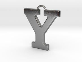Y Pendant in Polished Silver