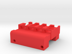 Neoden 4-Gang, 12mm feeder block in Red Processed Versatile Plastic