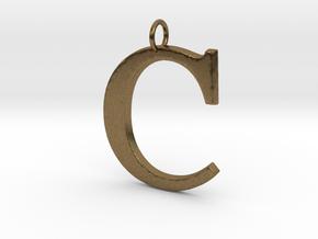 C2 Pendant in Natural Bronze