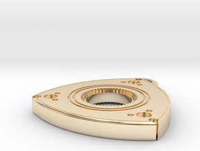 "1"" Wankel Pendant  in 14k Gold Plated Brass"