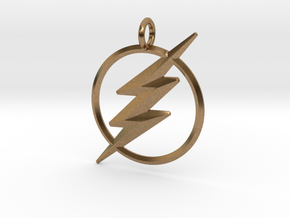 The Flash Keychain in Natural Brass