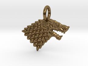 Stark Sigil Keychain in Natural Bronze