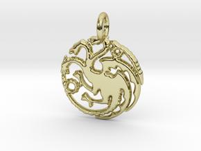 Targaryen Sigil Keychain in 18k Gold Plated Brass