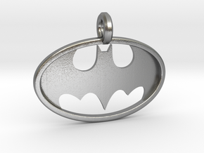 Classic Batman Keychain in Natural Silver