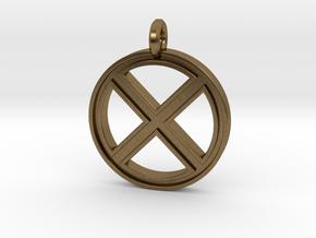 X-Men Keychain in Natural Bronze