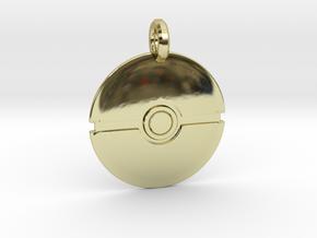 Poké Ball Keychain in 18k Gold Plated Brass