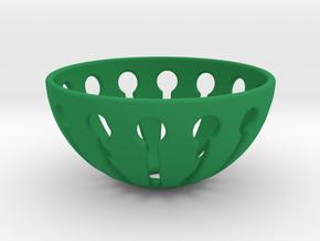 Tingling Toy Balls Basket  in Green Processed Versatile Plastic