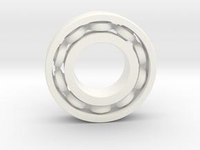 Bearing 100 mm nylon in White Processed Versatile Plastic