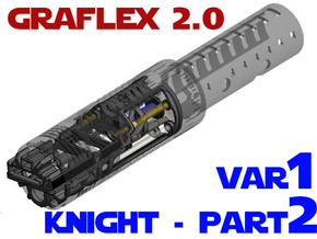 Graflex2.0 - Knight Chassis Variant 1 - Part2 in White Strong & Flexible