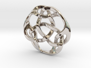celtic knot 36mm in Rhodium Plated Brass