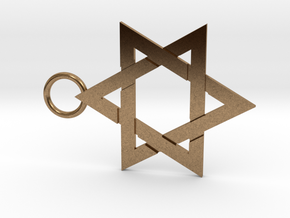Star of David 1mm in Natural Brass