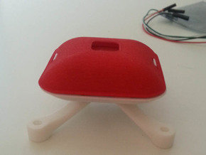 GPS Holder LID (U Blox M6) v1.3 in Red Processed Versatile Plastic