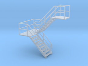 HO Staircase 39.1mm in Smooth Fine Detail Plastic