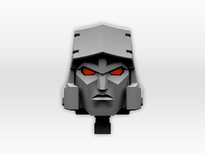 (2mm Screw) TR Faceplate & Helm for CW Megatron in Frosted Ultra Detail