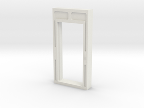 Door, Single Open W Threshold (Space: 1999), 1/30 in White Natural Versatile Plastic