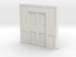 Door, Double Closed No Thrshold (Space: 1999) 1/30 in White Natural Versatile Plastic