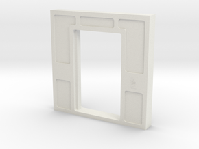 Door, Double Open W Threshold (Space: 1999), 1/30 in White Strong & Flexible