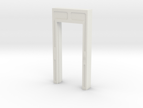 Door, Single Open No Threshold (Space: 1999), 1/30 in White Natural Versatile Plastic