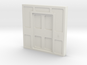 Door, Double Closed W Threshold (Space: 1999) 1/30 in White Natural Versatile Plastic