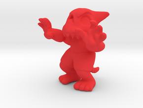 Skull Imp in Red Processed Versatile Plastic