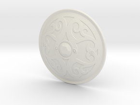 """BotW"" Gerudo Shield in White Natural Versatile Plastic: 1:12"