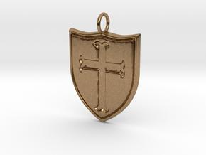 Crusader Pendant in Natural Brass