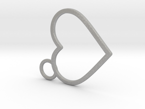 Curved Heart in Aluminum