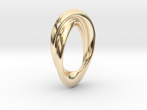 Twisted Loop Pendant in 14K Yellow Gold