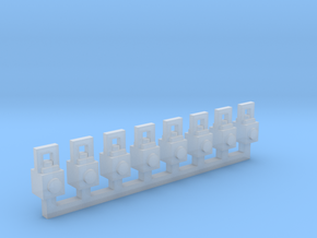 Lanterns 8 Pack 1-87 HO Scale in Smooth Fine Detail Plastic