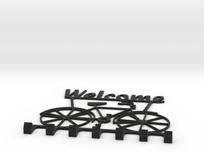 Key Hanger - Welcome in Black Natural Versatile Plastic