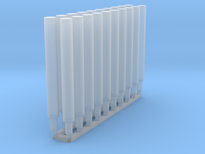 Protection/Bumping Posts (20) in Smooth Fine Detail Plastic