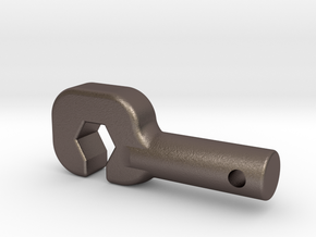 "TUG-A-BUD HOOK FOR YOUR ""AXIAL"" (AR60) in Polished Bronzed Silver Steel"