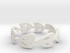 Simple Laurel Ring in White Natural Versatile Plastic: 6 / 51.5