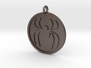 Spider Pendant in Polished Bronzed Silver Steel