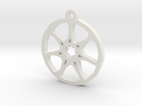 7 Pointed Star Pendant - Game of Thrones in White Natural Versatile Plastic