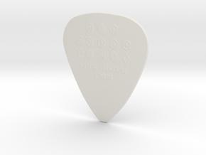 "Luck Rising 1mm ""Raw"" Guitar Pick in White Natural Versatile Plastic"