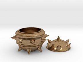 High-Poly Stickybomb Bowl in Natural Brass: Small
