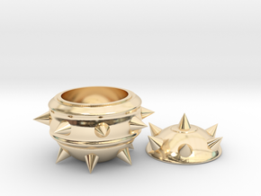 High-Poly Stickybomb Bowl in 14k Gold Plated Brass: Small