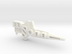 Transformers Pretender Carnivac gun in White Strong & Flexible Polished