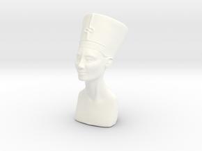 Miniature Bust of Nefertiti in White Processed Versatile Plastic