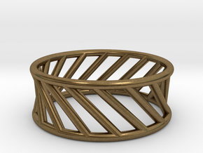 Hyperboloid Ring in Natural Bronze: 12 / 66.5