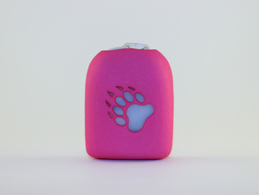 Omnipod Pod Case - Paw in Pink Strong & Flexible Polished
